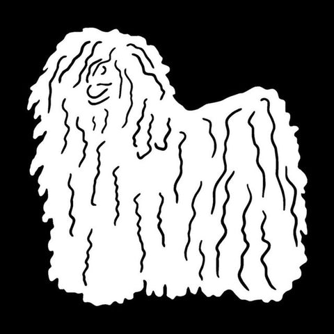 Image of Hungarian Puli Dog  Car Decal
