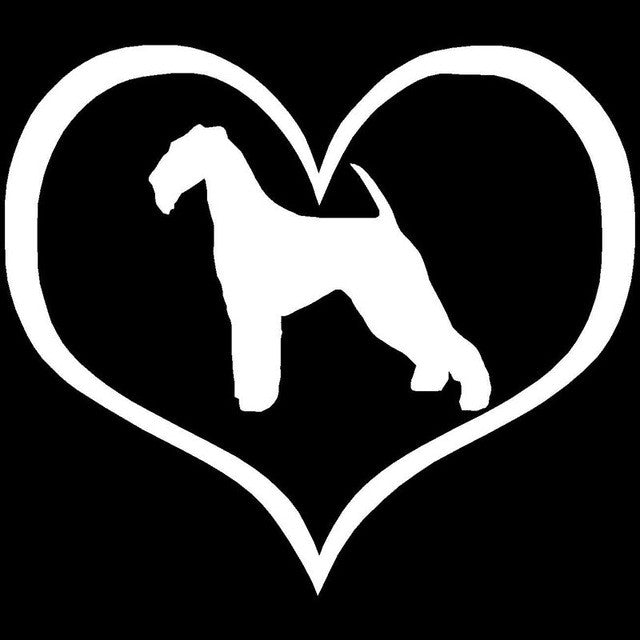 Airedale Terrier Dog Heart Car Decal - I Love Cat Socks