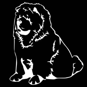 Fluffy Chow Chow Car Decal