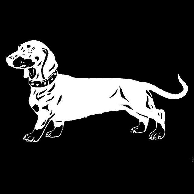 Detailed Dachshund Dog Car Decal - I Love Cat Socks