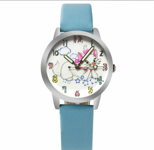 Charming Cat Design Watch