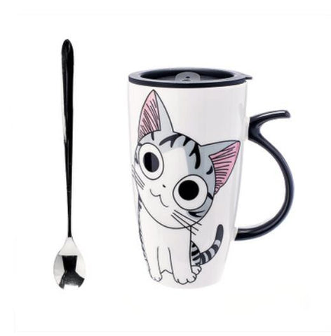 Image of Cat Smiley Mug - I Love Cat Socks