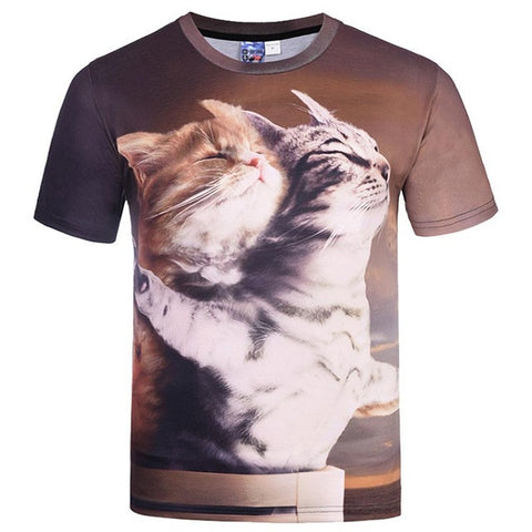 Image of Titanic Cats Printed Shirt