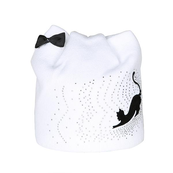 Bow-Knot Cut Cat Knitted Beanie