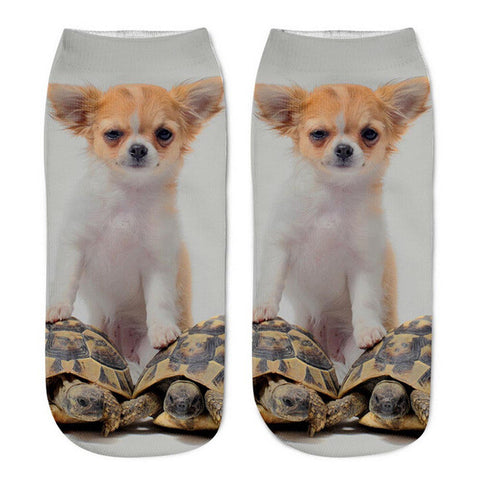 Cute Puppies Design Socks - I Love Cat Socks