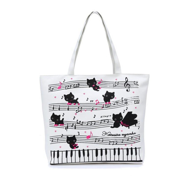 Cat Music Shoulder Bag