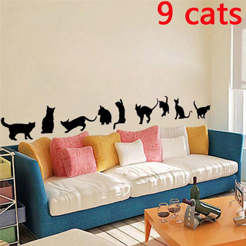 DIY  Cat Shadow Home Decal - I Love Cat Socks