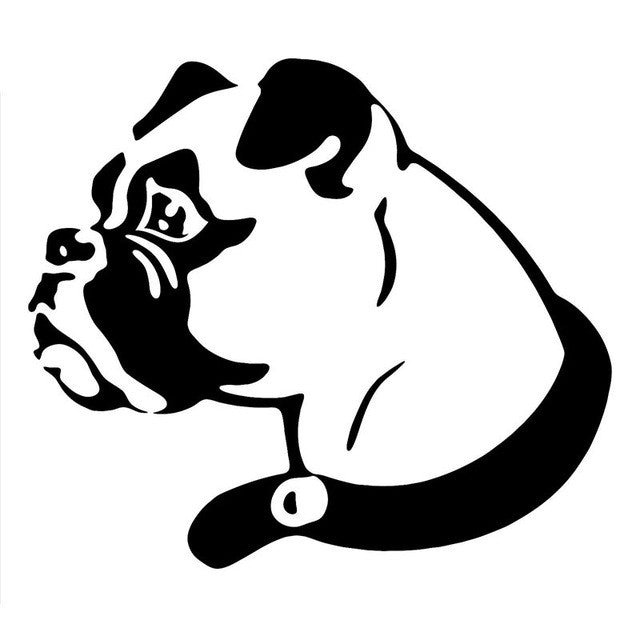 Boxer Dog Classic Car Decal