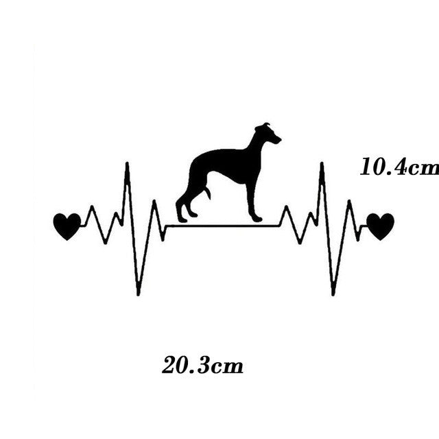 Heartbeat Lifeline Dog Car Decal
