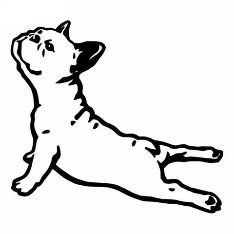 French Bulldog Yoga Pose Car Decal - I Love Cat Socks
