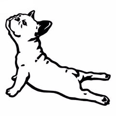 French Bulldog Yoga Pose Car Decal
