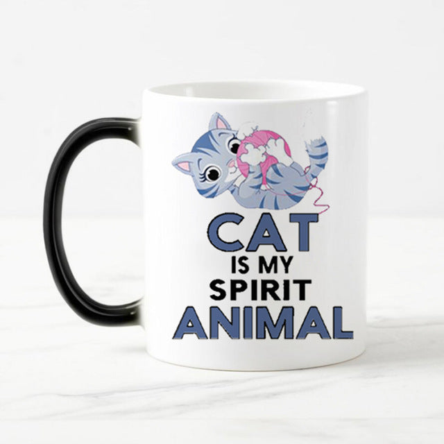 Color Changing Cat Mug - I Love Cat Socks