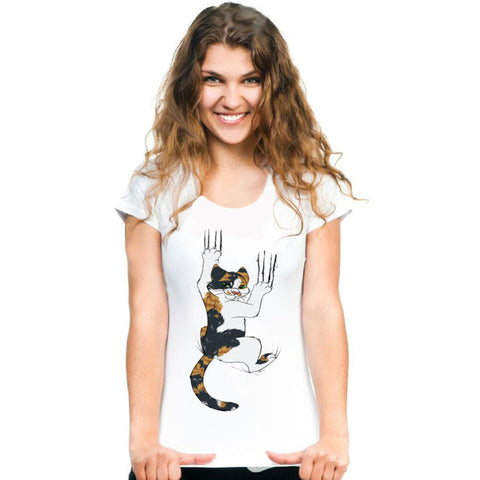 Calico Cat Claws T-shirt - I Love Cat Socks