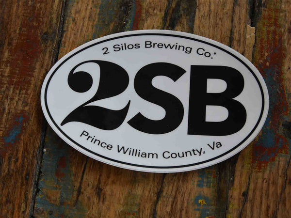 "Sticker - 2 Silos Oval ""2SB"""