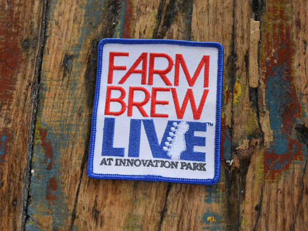 Embroidered Patch - Farm Brew LIVE