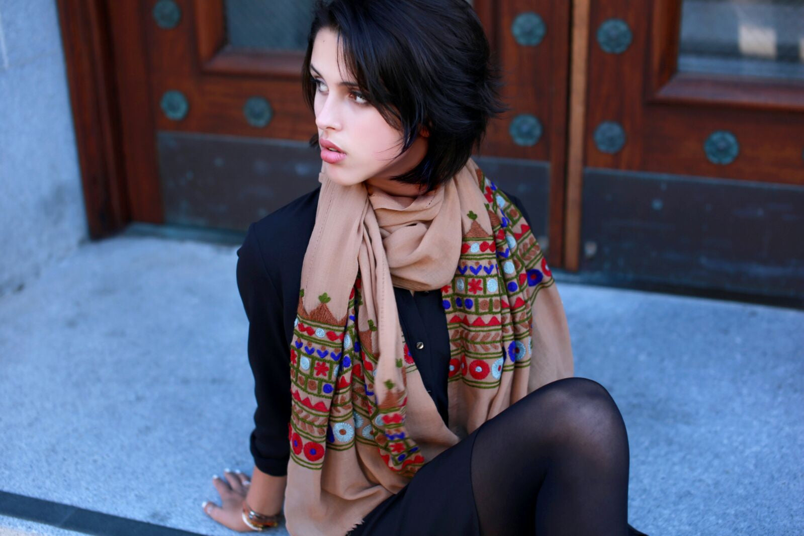 Hand Embroidered Scarves
