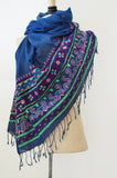 Fair Trade Gift Purple Regal Love Scarf