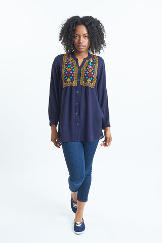 Baroque Tunic Top