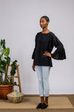 Eco Friendly Organic Cotton Black Blouse