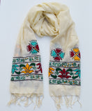 Lotus Love Embroidered Scarf