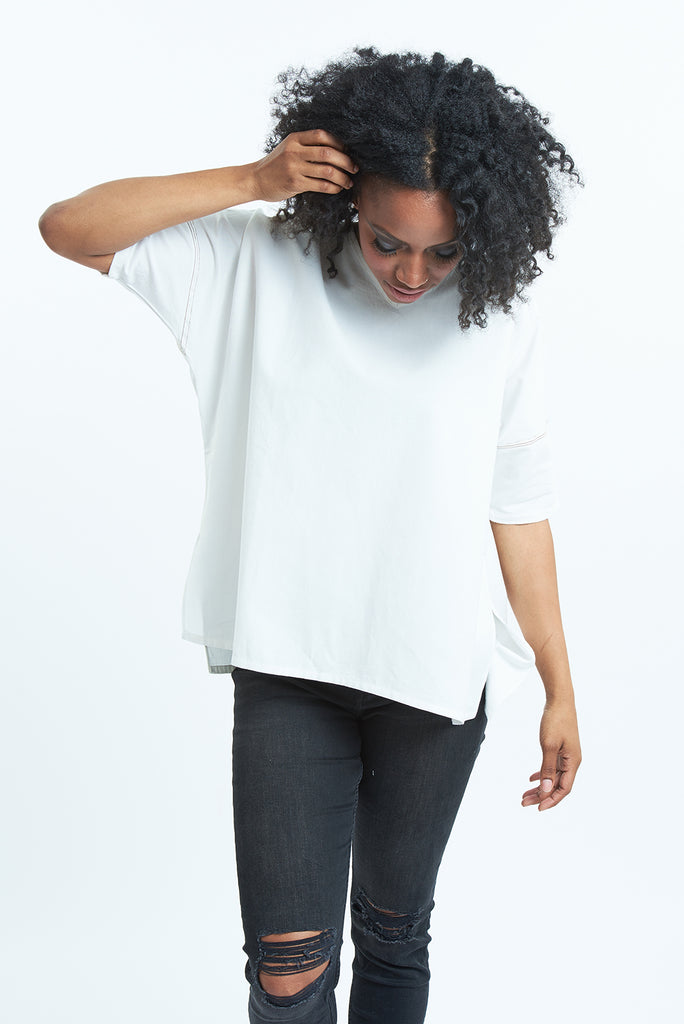 White Short Sleeve Nomad Organic Cotton T-shirts