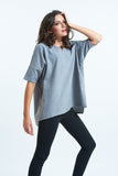 Purple Impression Grey Short Sleeve Nomad Tee