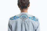 Embroidery On Fanaa Blouse Grey