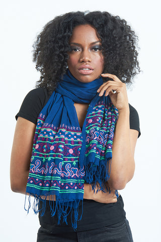Purple Regal Love Embroidered scarf