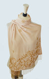 Artisan Fashion Floral Beaded Scarf for Formal Event