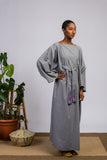 Gray Kimono Dress For Vegan Fashion