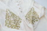 Embroidered Ivory Tilla Top