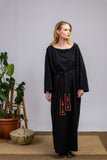 Longer Length Black Kimono Dress