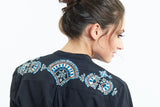 Embroidery on Fanaa Blouse Black