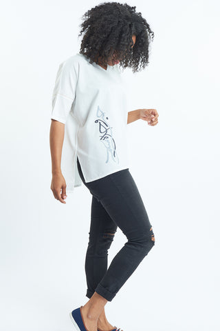 Embroidered Nomad organic cotton t shirts