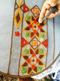 Stained Glass Scarf Embroidery