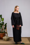 Organic Cotton Shirt Black Kimono Dress