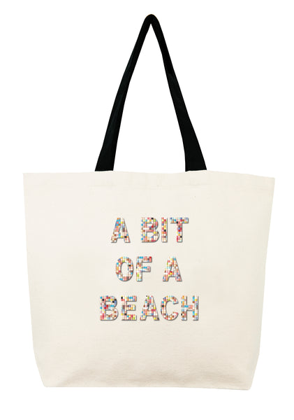 A Bit of A Beach Confetti Bead Tote