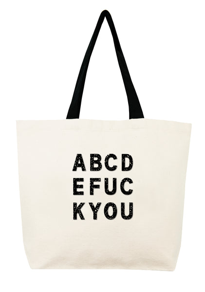 ABCDEFUCKYOU  Crystal Tote