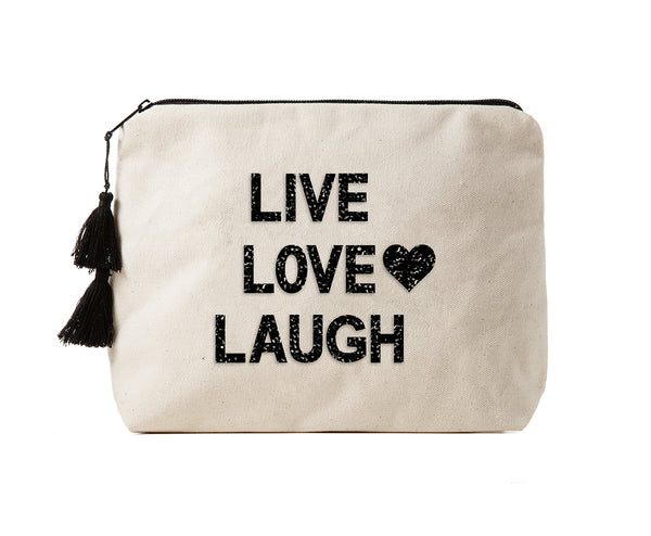 LIVE LOVE LAUGH - Crystal Bikini Bag Clutch