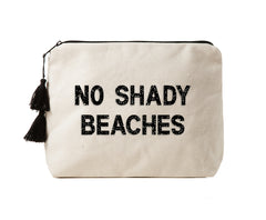 NO SHADY BEACHES - Crystal Bikini Bag Clutch