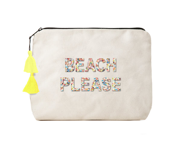 BEACH PLEASE- Confetti Bikini Clutch