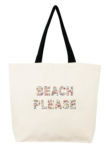 Beach Please Confetti Bead Tote