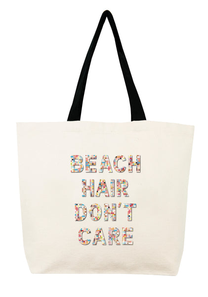 Beach Hair Don't Care Confetti Bead Tote