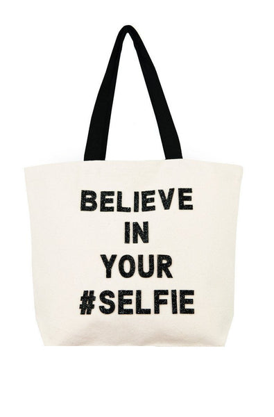 Believe in Your #Selfie Crystal Tote