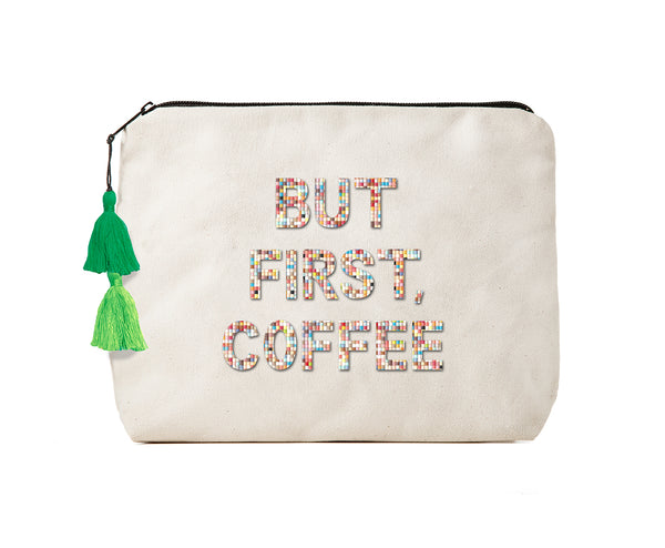 BUT FIRST, COFFEE - Confetti Bikini Clutch