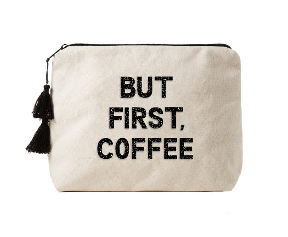 BUT FIRST, COFFEE - Bikini Bag Clutch