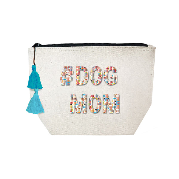 # Dog Mom - Confetti Cosmetic Case