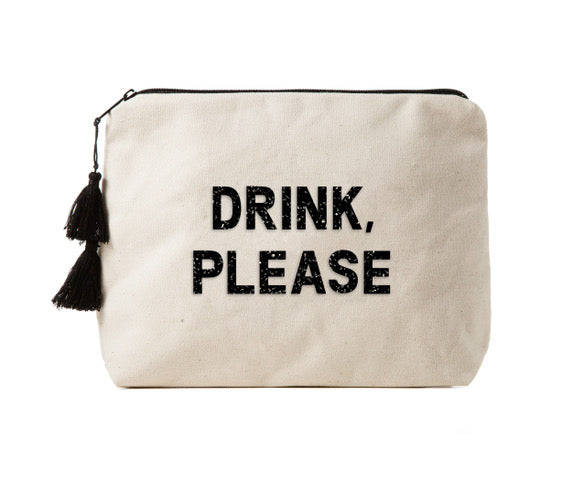 DRINK, PLEASE -  Crystal Bikini Bag Clutch