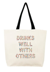 Drinks Well With Others Confetti Bead Tote