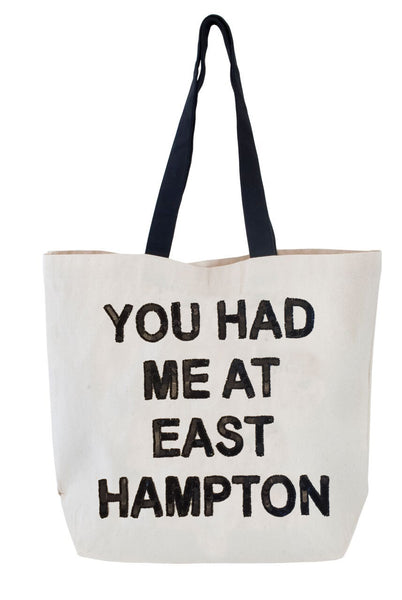 You Had Me at East Hampton Sequin Tote